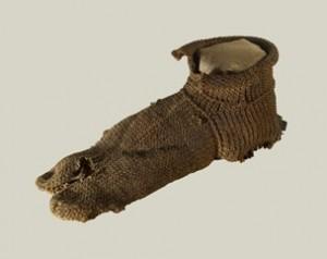 Egyptiskt fynd: Socka av ull, år 100-350, Roman/Coptic.