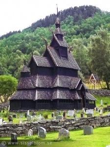 Borgund Stavkirke från åren 1150 - 1200-talet