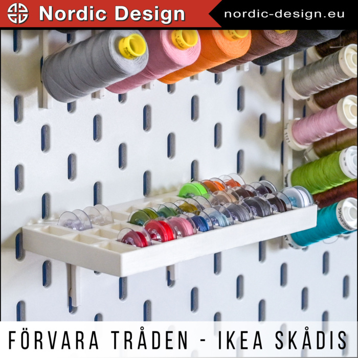 Förvaring av Sybehör till Förvaringstavlan Skådis från IKEA
